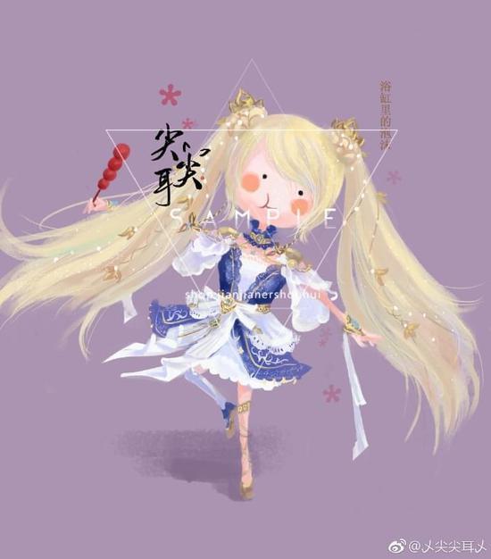 变身霸道小白兔 剑网3可爱手绘分享