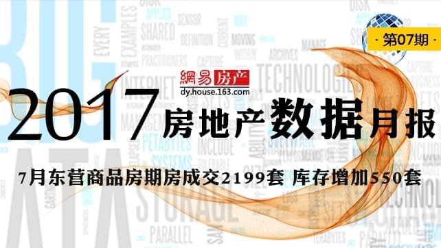 2017年7月东营商品房期房成交2199套