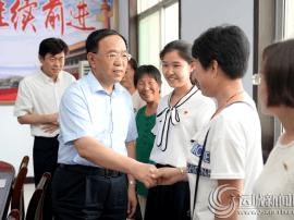 刘志宏看望慰问因公牺牲党员家属和困难党员