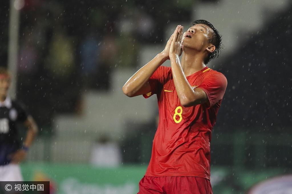 U23亚预赛-中国0-0闷平柬埔寨 对方曾任意球中柱