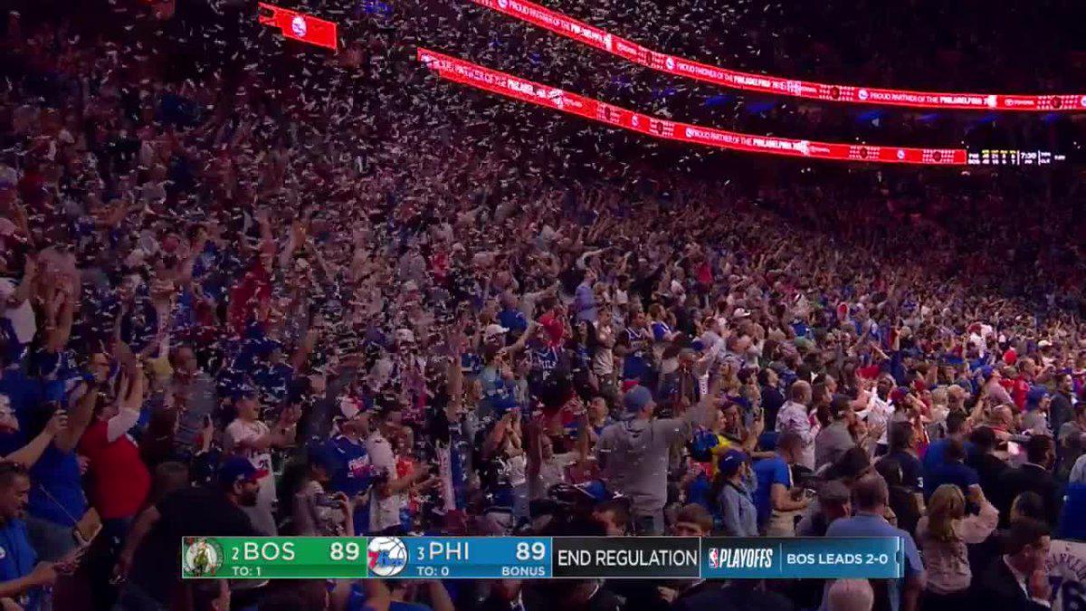 【影片】著急!76人提前慶祝勝利   撒紙屑導致加時延遲