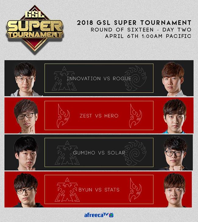 星际争霸2:GSL2018超级锦标赛第一赛季赛况