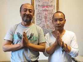 化通法师会见北京电影学院 表演学院副院长王劲松