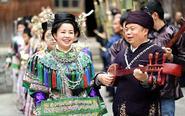 侗年大年初一 黔东南群众盛装踩歌堂欢庆