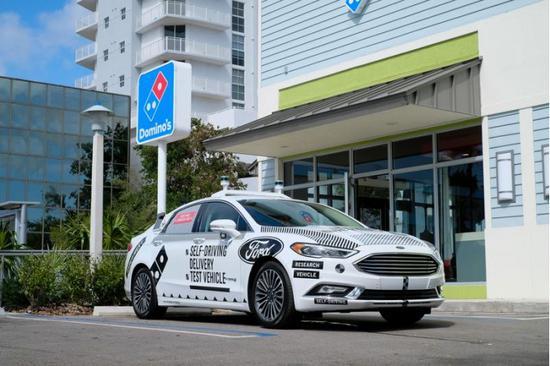 福特将在迈阿密开展无人驾驶汽车送披萨服务