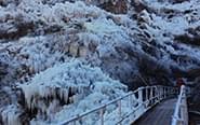 北京门头沟现冰瀑奇观