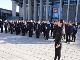 运城百名司法行政干警在嘉兴南湖重温入党誓词