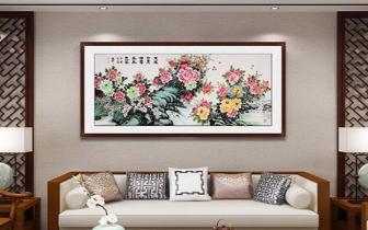 客厅装饰什么画好?富贵牡丹画是常见选择