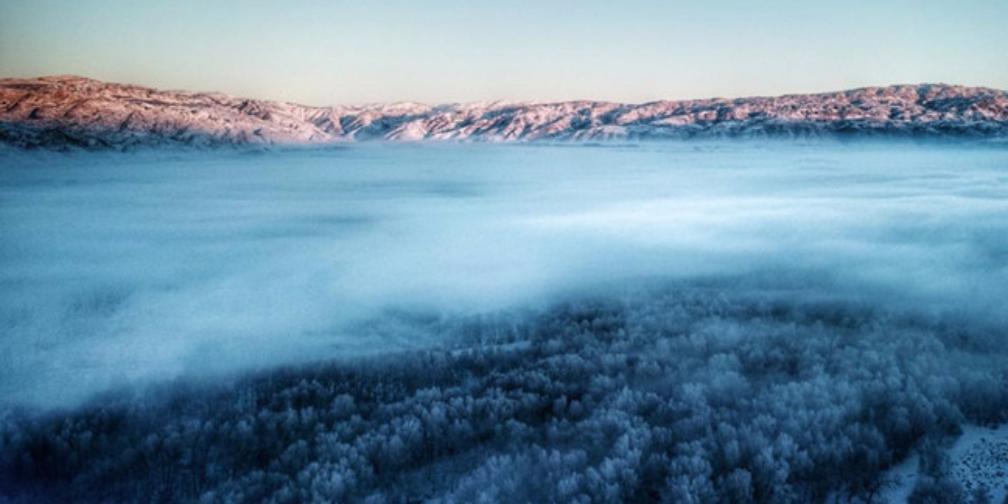 航拍冬季布尔津:宛若仙境 令人迷醉