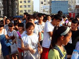高考首日宁陵3106名学子从容赴考