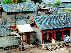 明太原县城城墙已完成合龙  即将开始彩绘