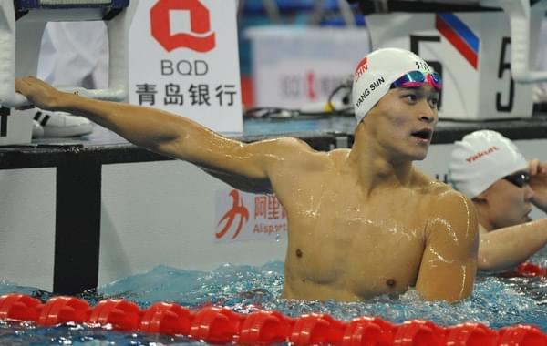 全国游泳冠军赛孙杨800自夺第三冠