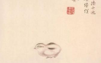 八大山人的《小鸡图》VS石鲁的《兰花》