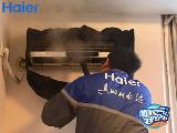 海尔空调深度清洗 1盆黑水让20年用户换新自清洁