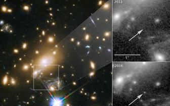 震撼!哈勃望远镜拍到50亿光年外恒星