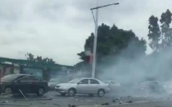 今晨东莞闹市发生多车连环撞!现场惨不忍睹!