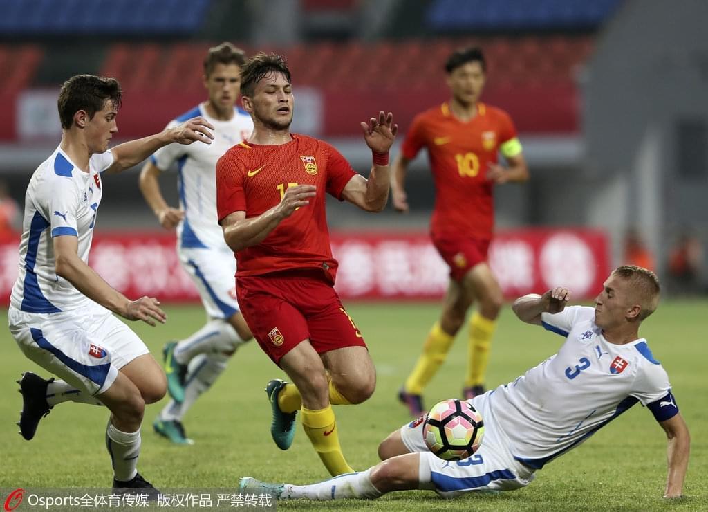 熊猫杯-陶强龙中柱 U19国青0-1斯洛伐克遭3连败
