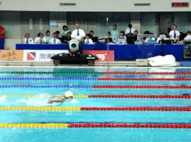 全运会女子200米蝶泳决赛 河北选手周羿霖摘
