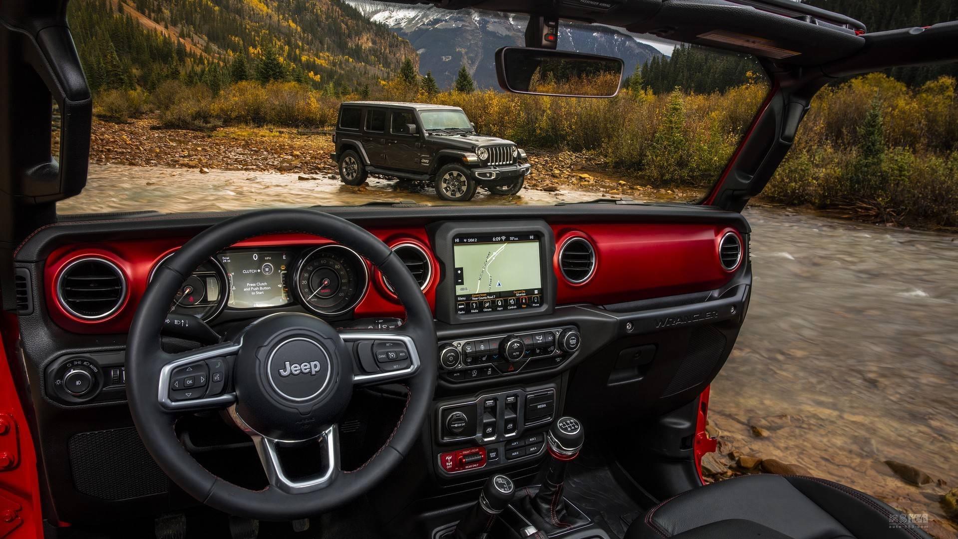 更显眼更精致 全新Jeep牧马人内饰官图发布