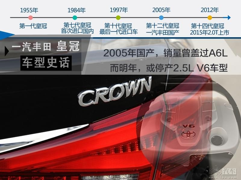 再见V6 一汽丰田2017年停产皇冠2.5L车型