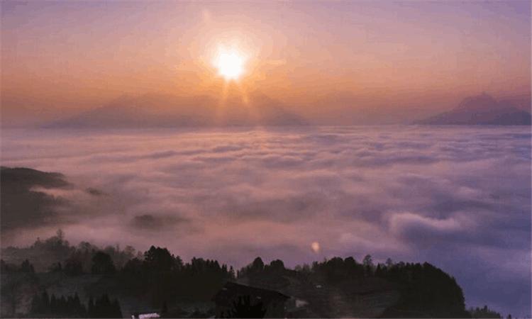 最全《重庆云海地图》出炉!不出重庆也能看云海 照片