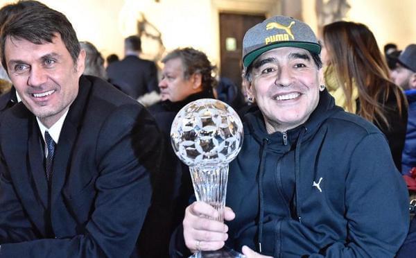 意大利名人堂颁奖:马拉多纳马尔蒂尼获奖