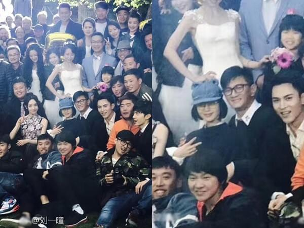 刘诗诗吴奇隆参加友人婚礼 恩爱相拥超甜蜜