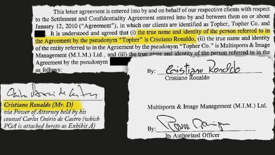 曝C罗强奸案新证据 化名签合同+封口费省44万镑