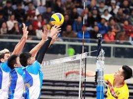 男排超级联赛第四轮 河北队3:0胜天津