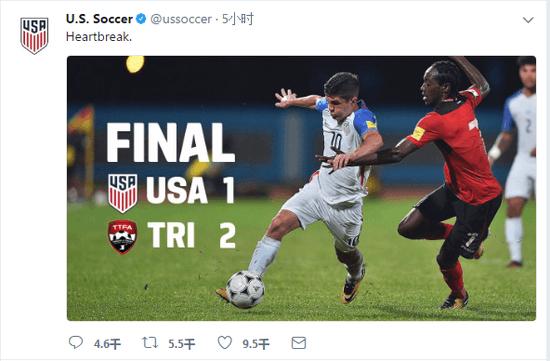 """轻松一刻:美国国足输球后发微博称""""对不起""""图片"""