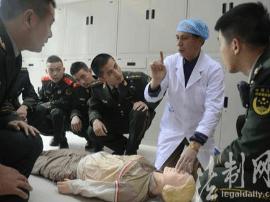 潭东边防派出所开展现场医疗急救技能培训