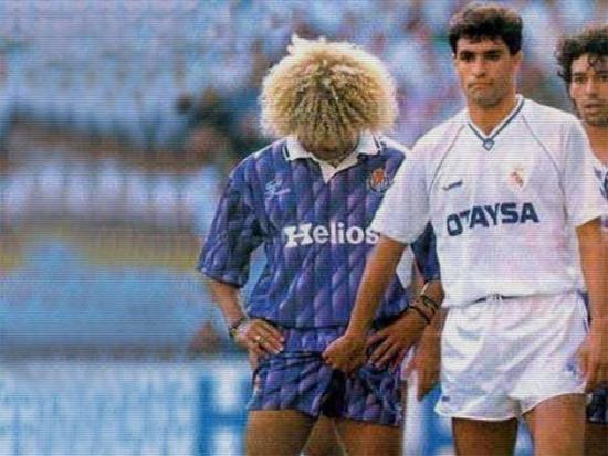 1992年,巴尔德拉马被皇马名宿米歇尔偷袭