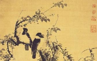 明代宫廷绘画的特色 林良《秋树聚禽图》
