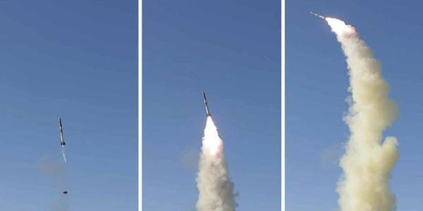 朝鲜试射新型防空导弹 金正恩现场视察指导