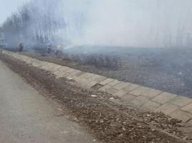 一日两起火患被高速民警扑灭 皆因烧荒引起