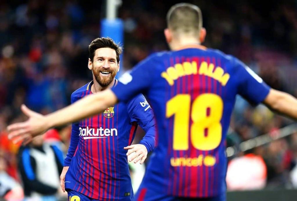 国王杯-梅西3分钟2球阿尔巴1射2传 巴萨6-1晋级