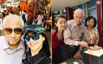 翁虹带老公替父庆生 91岁学霸父亲罕见曝光