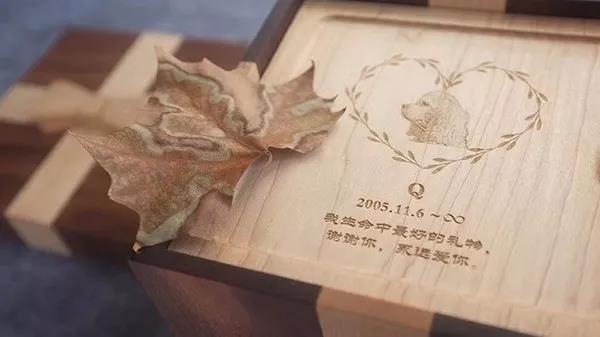 吴彤做的宠物骨灰盒  作者供图