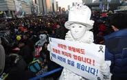 朴槿惠反对者在首尔游行