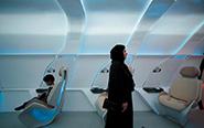 迪拜展出超级高铁模型