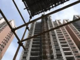 中豪星城在建六幢住宅楼 施工进展实时情况