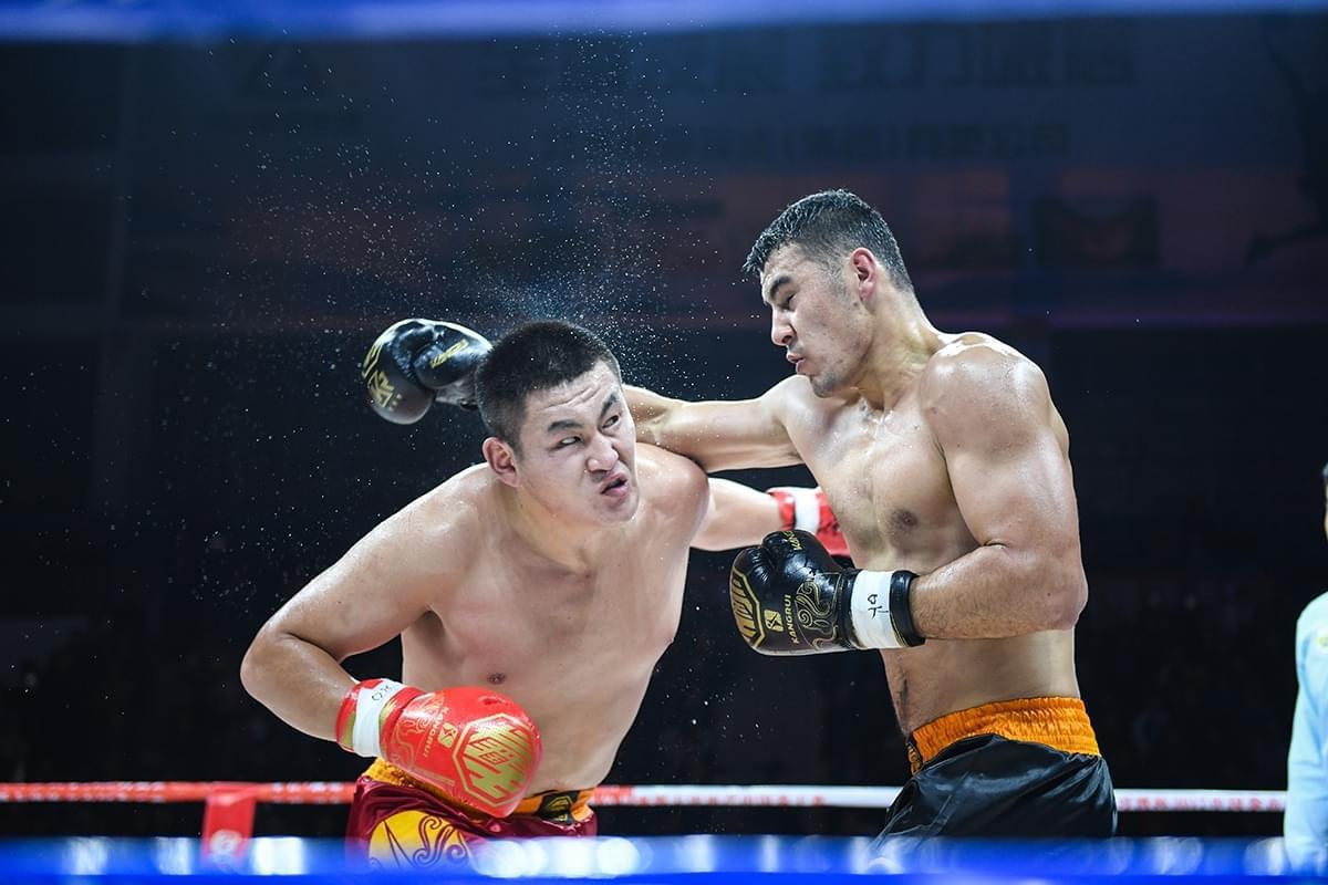 中国拳王赛习水站 牟海鹏加冕+91公斤级金腰带