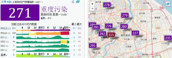 上海PM2.5达重度污染难阻跨年热情 外滩游客逾30万