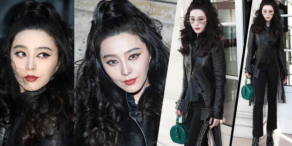 范冰冰看LV大秀 发型妆容惊艳时装周
