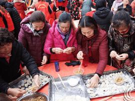 运城华曦广场人生鼎沸 千人同吃饺子宴