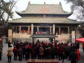 中央电视台《记住乡愁》摄制组在解州关帝庙拍摄
