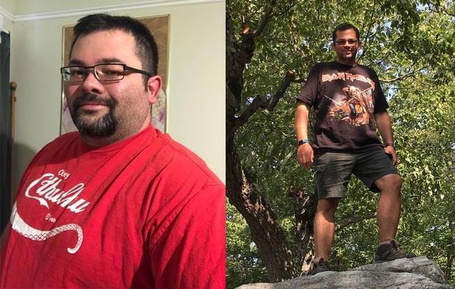曾跑步坚持不了30秒 男子8个月瘦123斤