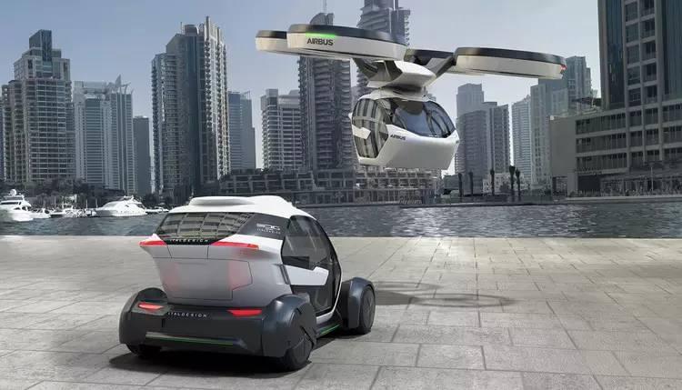 空客发布了地上跑天上飞无缝切换的胶囊模块车