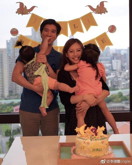 王力宏夫妇为3岁大女儿庆生 一家四口温情满满