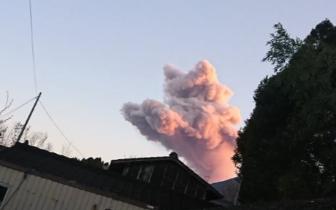 """日本新燃岳喷发出一只粉红色的""""猫"""" 网友啧啧称奇"""